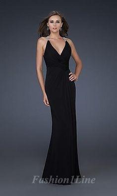 black black dress long