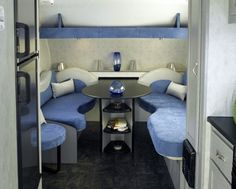 Creative  Travel Trailer Redesigned Truck Camper Interiors At RVIA  RV