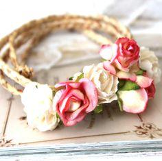 Couronne de fleurs enfant cérémonie/mariage - Lou : Accessoires coiffure par sweetprincess Pour les petites ?