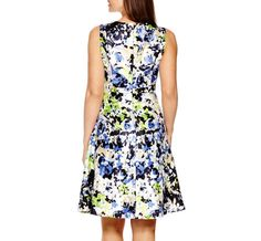 Black Label by Evan-Picone Sleeveless Floral Fit-and-Flare Dress