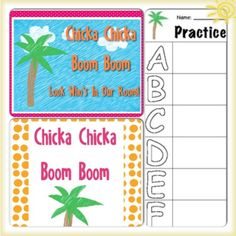 Chicka chicka ABC Unit Plan: Inspired by the book Chicka Chicka Boom Boom. Great activities for the beginning of the year. ABC activities that work with preschool and kindergarten age level. Check it out on TPT, only $3.50!