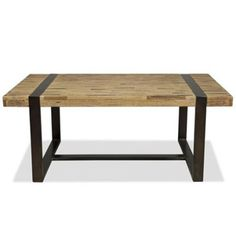 If you like the beauty of natural wood but can't decide if you prefer light or dark tones, then our Finger Slat Cocktail Table would be a good bet for you. The thick wood top is comprised of multiple thin slats of both light and dark toned wood. The sleek metal base extends from the floor to wrap around the top.