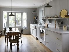 Sheker Style Kitchens are Elegant & Functional. 25 years Building Kitchens in Dublin. Victorian Kitchen, Shaker Kitchen, Bespoke Kitchens, Solid Wood, Castle, New England, House, Kitchen Ideas, Hand Painted