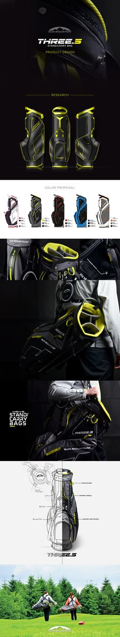 THREE.5 GOLF BAG on Behance by IOTA Design The new Three.5 bag by sun mountain.Including new plastic top exposed and new handle signature.