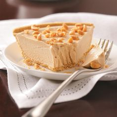 Peanut Butter Silk Pie Recipe -This is a favorite, so I make it every chance I get. My youngest son wanted pies around his wedding cake, and this was one of his requests! —Lee Deneau, Lansing, Michigan