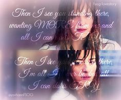 Then I see you standing there wanting more from me and all I can do is TRY   #FiftyShades