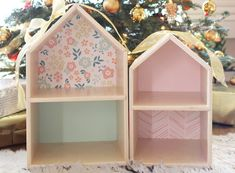 Project dollhouse is complete! I've been looking forward to creating a dollhouse for the girls for a while now and this Christmas felt like the right time