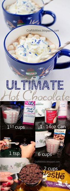 Craftibilities: ULTIMATE Hot Chocolate RECIPE for the crockpot- super easy