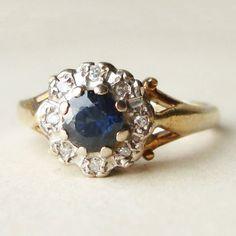 Blue Sapphire Ring. Classic!