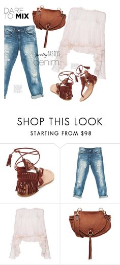 """Dare To Mix..."" by hattie4palmerstone ❤ liked on Polyvore featuring Sigerson Morrison, Sans Souci, Philosophy di Lorenzo Serafini and See by Chloé"