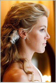 Casando com Economia: Penteados para noivas com o cabelo solto