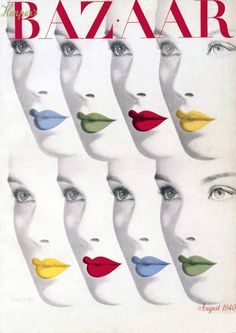Harper's Bazaar cover, August 1940   Art Direction by Alexey Brodovitch