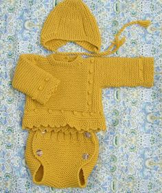 Diy Crafts - Ravelry: Jersey leo pattern by maria del puerto fernandez Newborn Crochet Patterns, Baby Dress Patterns, Crochet Cardigan Pattern, Crochet Baby, Knitted Baby Clothes, Baby Kids Clothes, Girl Doll Clothes, Knitting Blogs, Knitting For Kids