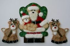 Christmas Tear Bear Santa and Reindeer