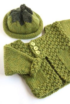 Baby Sweater - pattern is only available in a book to purchase or perhaps check out from the library, but it is a great sweater.