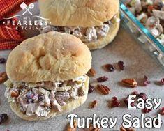 Easy Turkey Salad - My Fearless Kitchen