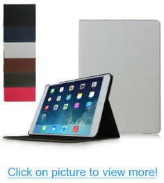 Ipad Air Case - Ultra Slim Ipad 5 Leather Case That Will Also Work As a Stand. For Use with the Ipad 5 / 5g or Ipad Air. By Brand M Mobile --- Leather Cover with Internal Protective Smart Shell. *WHITE*