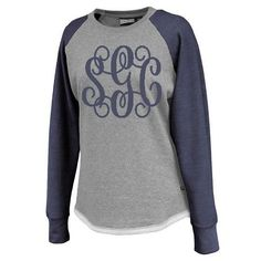 b71715cf9a0d36 Fleece Raglan with Navy Sleeves and Navy Glitter Monogram - Southern Grace  Creations Monogram Sweatshirt,