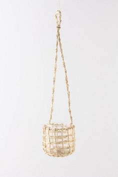 Would be really fun to throw some sea shells in or a cute lil plant. - Palm Cove Hanging Lantern - Anthropologie