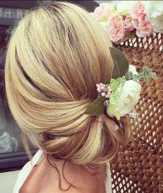 Elegant bridal hair updo