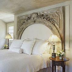 Romantic bedroom - love the head board