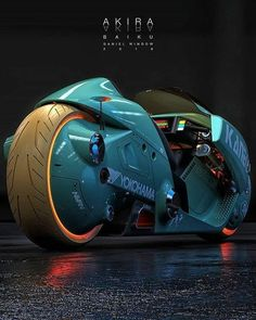 NEO TOKYO Cyberpunk art curated by — Tetsuo color scheme of Kaneda's bike from Akira by Swipe 👉 for Kaneda's color scheme — — — Futuristic Motorcycle, Futuristic Cars, Futuristic Design, Anime Motorcycle, Concept Motorcycles, Cool Motorcycles, Vespa Scooter, Motorbike Design, Cyberpunk Art