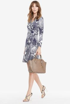 """DVF New Jeanne Two Silk Jersey Wrap Dress...great work dress and shoes..To find 'invisible' inserts that keep your foot from sliding forward during your work day -  see  ❤︎.❤︎...""""How to make high heels -boots and shoes - comfortable - you tube  at    https://www.youtube.com/watch?v=OwGBW17fdxU   ...also see hopscotch in 4 inch heels!!..."""