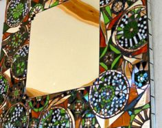 Stained glass mosaic mirror/ disco light effect