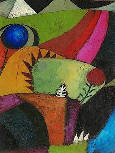 Paul Klee- Three White Bluebells