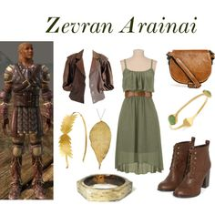 Zevran Arainai - Dragon Age by smallswingshoes on Polyvore featuring Liquorish, Realtree, Nugaard Designs, Elie Tahari and Made