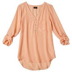 Mossimo Womens Long Sleeve Blouse - Assorted Colors