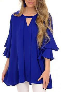 Royal Ruffles Tunic :: NEW ARRIVALS :: The Blue Door Boutique