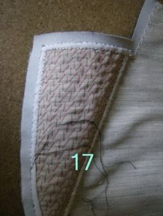 Tutorial for padstitching a tailored garment. The Great Coat Sew-Along: Shaping the Lapels and Collar: a tutorial from Paco Peralta Tailoring Techniques, Techniques Couture, Sewing Techniques, Sewing Hacks, Sewing Tutorials, Sewing Projects, Sewing Patterns, Sewing Tips, Sewing Coat