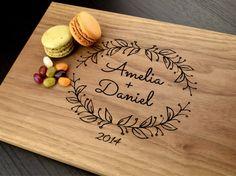 engraved cutting board custom wedding gift by truemementos on etsy