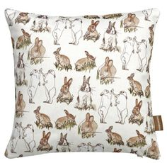 Dainty Rabbit Cushion £28.25 inc. UK postage. For full details please see website www.cushionsbydesign.co.uk
