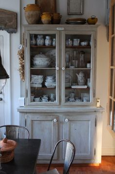 China cabinet in kitchen