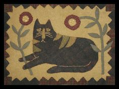Folk art cat by a piece of work designs
