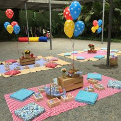 And it was on a Sunday morning that Tomás celebrated his 2 years with a picn . First Birthday Parties, Birthday Party Themes, First Birthdays, Summer Party Themes, Kids Picnic Parties, Picnic Party Decorations, Outdoor Birthday, Picnic Theme, Picnic Ideas