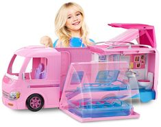 Check out the Barbie DreamCamper & Playset With Pool at the official Barbie website. Explore the world of Barbie today! Barbie Doll Set, Barbie Sets, Barbie Doll House, Doll Clothes Barbie, Barbie Dream House, Pink Doll, Dreamhouse Barbie, Barbie Camper Van, Barbie Van