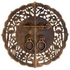 CBH Chinese Brass Hardware Door Cabinet Door Plate 9.75''
