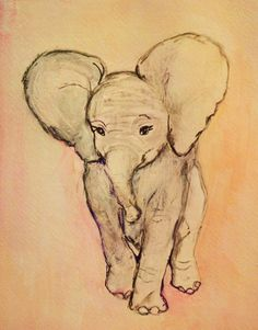 Elephant This painting is for sale in my etsy shop! animals-i-ve-painted
