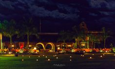 Hacienda Dzibikak by night