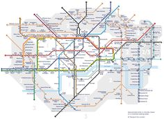 Transport for London has released another alternative version of the Tube map—and it's actually really useful. The London transport manager has created a 'Walk the Tube' map, which shows how long it takes to totter between stations. London Tube Map, London Map, New London, London Travel, London Blog, London 2016, Travel Uk, Oyster Card, London Transport