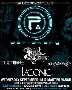 One of my favorite shows played. All of these bands i look up to greatly. Awesome sharing the stage with Periphery again too. Love you guys.