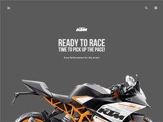 KTM RC 390 - Landing page Animation by Divan Raj