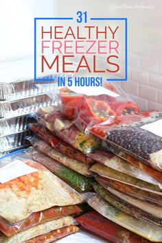 31 Healthy Freezer Meals in 5 Hours (New Leaf Wellness)