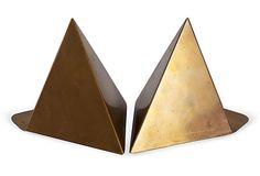 Michael Herold  Vintage Pyramid Sculptural Bookends
