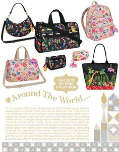938a31bc046 Disney It s a Small World Collection by LeSportsac - 2368 Classic ... Disney  Family