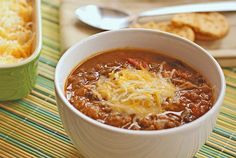 Slow cooker pumpkin and bean chili - TRIED and yummy. I added ancho chili powder and chipotle hot sauce while cooking.