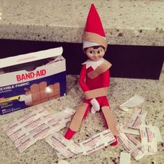 100 Hilarious Elf on the shelf ideas to cherish the sweet Smile on your Kid's Fa. - 100 Hilarious Elf on the shelf ideas to cherish the sweet Smile on your Kid's Face – Hike n Dip - Christmas Activities, Christmas Traditions, Woody Und Buzz, A Shelf, Shelves, Kids Shelf, Shelf Elf, Awesome Elf On The Shelf Ideas, Elf Ideas Easy